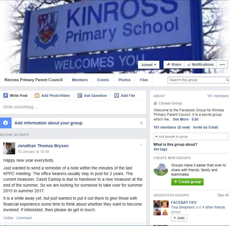 Parent Council Facebook page